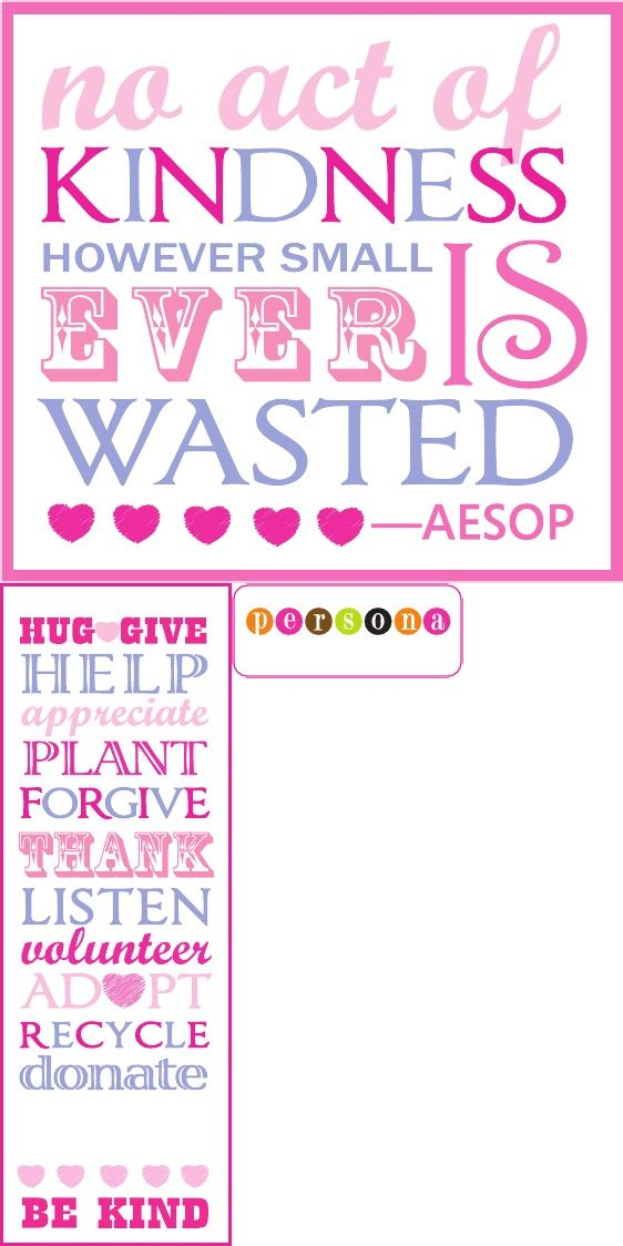 Random Act of Kindness Bookmark template | acts of kindness | Pintere ...