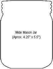 wide and small mason jar template