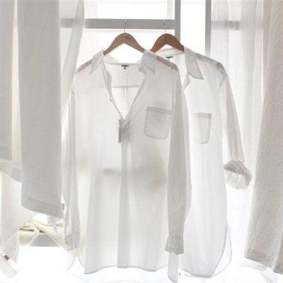 camisa blanca básico fondo de armario
