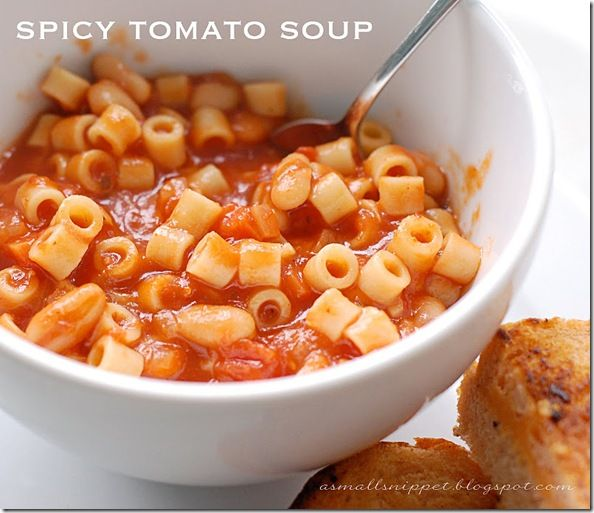 Spicy Tomato Soup | Amazing Food & Recipes! | Pinterest