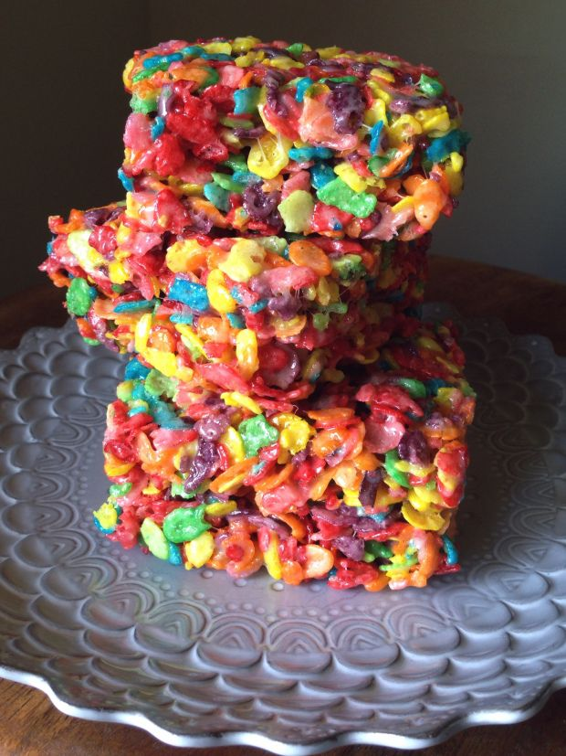 Fruity Pebbles Marshmallow Treats 1/4 cup (1 stick) butter 4 cups mini ...