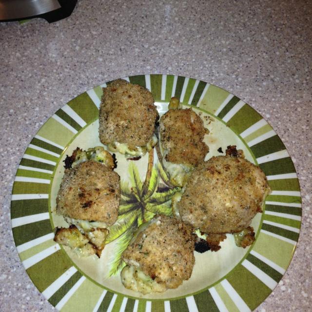 ... it tonight! Chicken Rollatini Stuffed with Zucchini and Mozzarella
