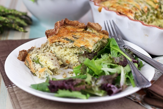 Asparagus and Cheese Quiche from The Healthy Foodie (http://punchfork ...