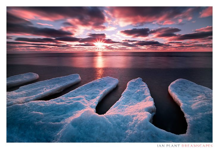 Lake Michigan, Muskegon State Park, Michigan, USA  Winter's Grip by Ian-Plant