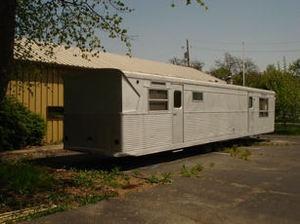 1957 Spartan all aluminum Imperial Mansion vintage travel camper trailer. For sale on eBay 5/27/2012