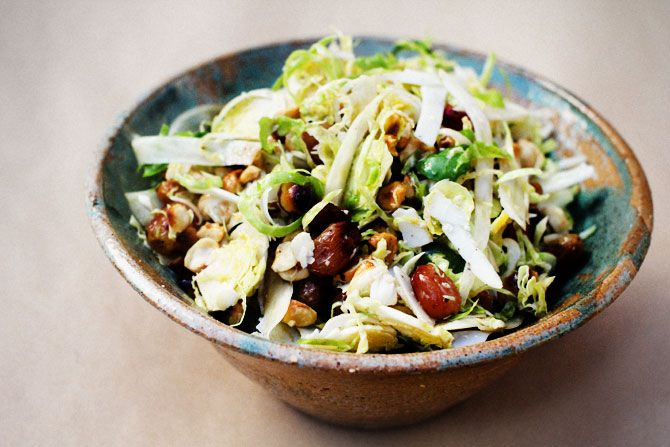 Brussels Sprouts, Fennel, Roasted Grape, Hazelnut & Goats Cheese Salad ...