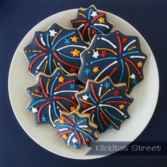 Fireworks Cookies | Cookie Biz | Pinterest