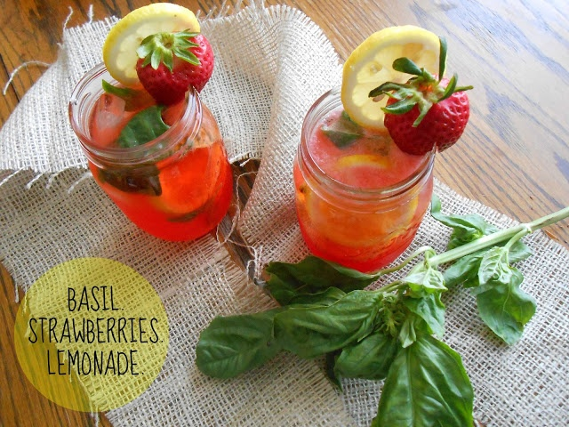 Strawberry Basil Lemonade Spritzer | food I wish to make | Pinterest