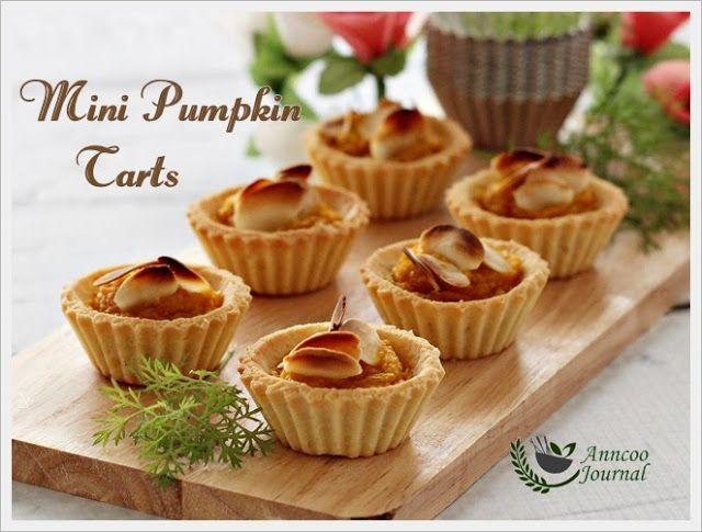 Mini Pumpkin Tarts   tartes   Pinterest