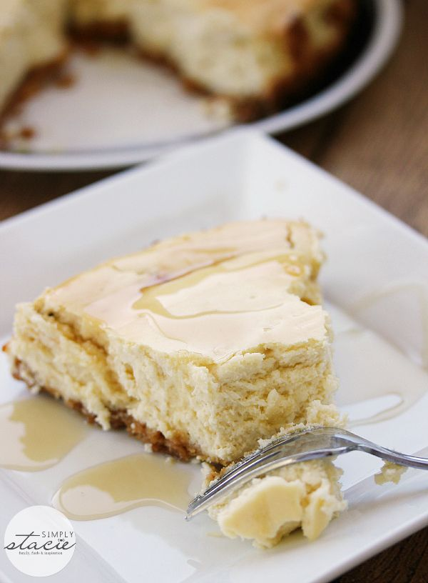 Maple Syrup Cheesecake | www.simplystacie.net | #maplesyrup # ...