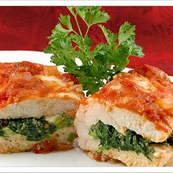 Spinach and Feta Stuffed Chicken Breasts | Chicken Dishes | Pinterest