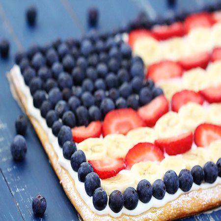 flag-fruit-pizza | Taste of Home | Pinterest