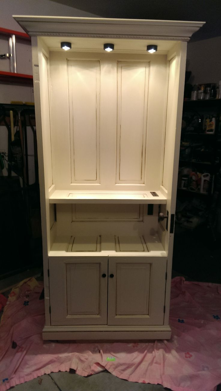 Repurposed wood doors into cabinet for the home pinterest