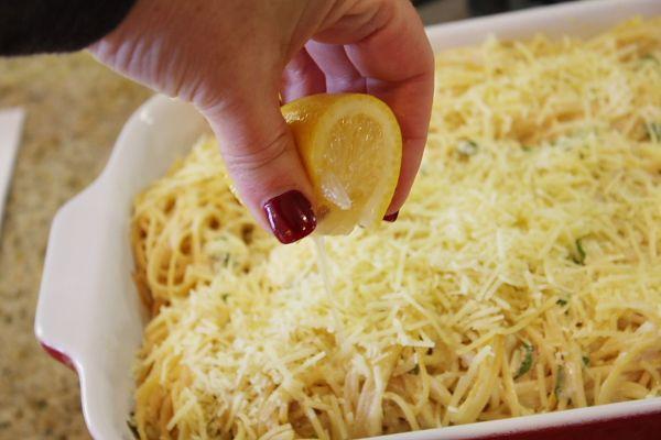 Baked Lemon Spaghetti   Recipe Girl