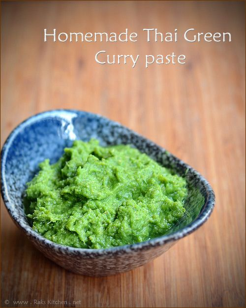 Homemade thai green curry paste (use wasabi instead of green chili to ...