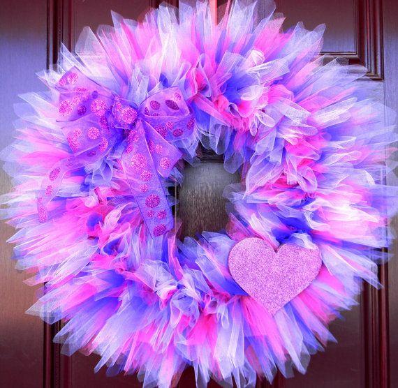 valentine's day tulle wreath