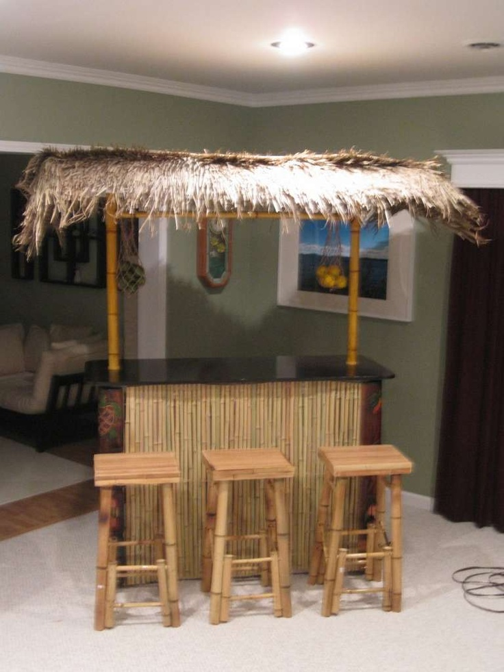 Tiki bar from pvc pipes diy for the home pinterest for Homemade tiki bar pics