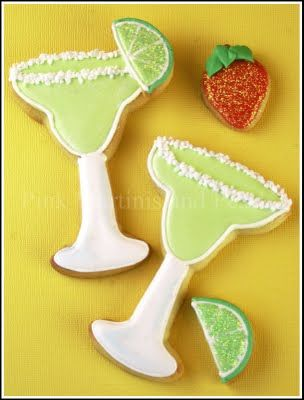 Decorated Margarita Cookies! | Royal Icing Creations | Pinterest
