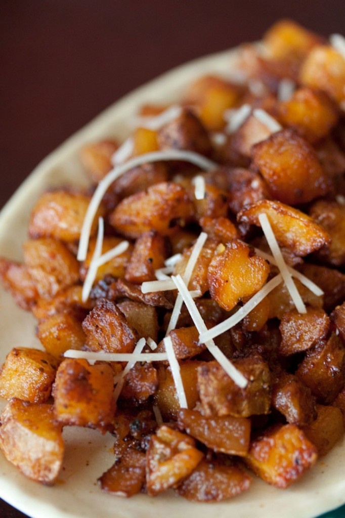 Parmesan Roasted Potatoes: Place 4 c (3/4 in) cubed Yukon gold ...