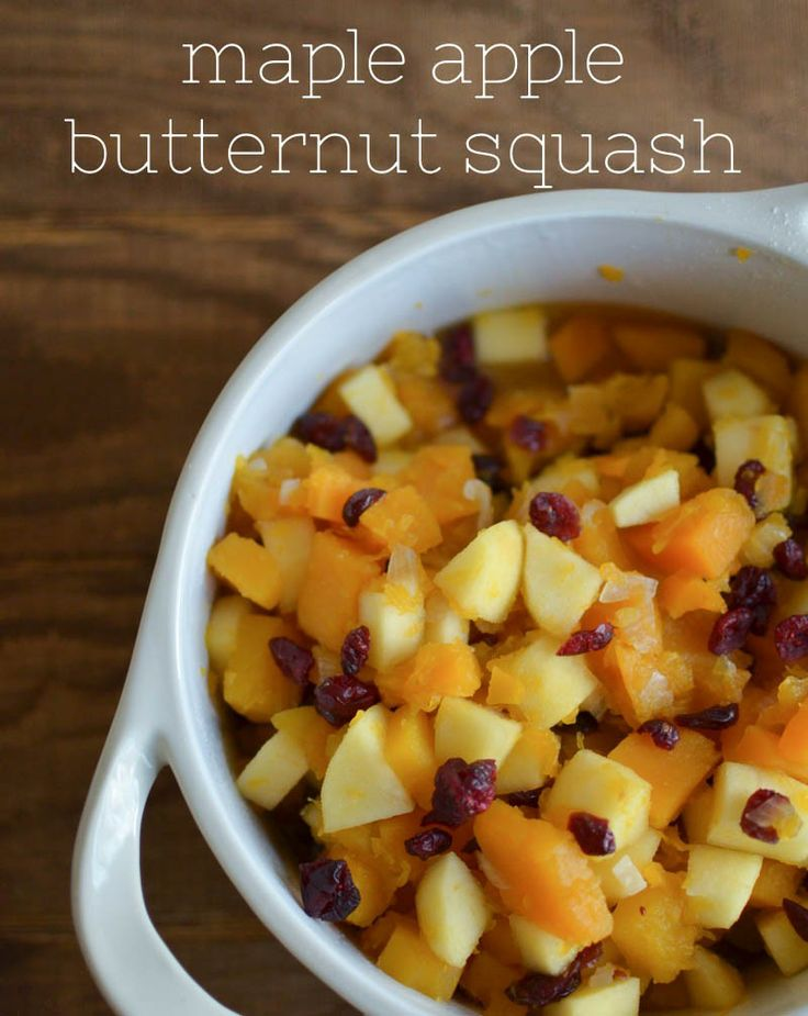 butternut squash apple salad maple roasted butternut squash apple ...