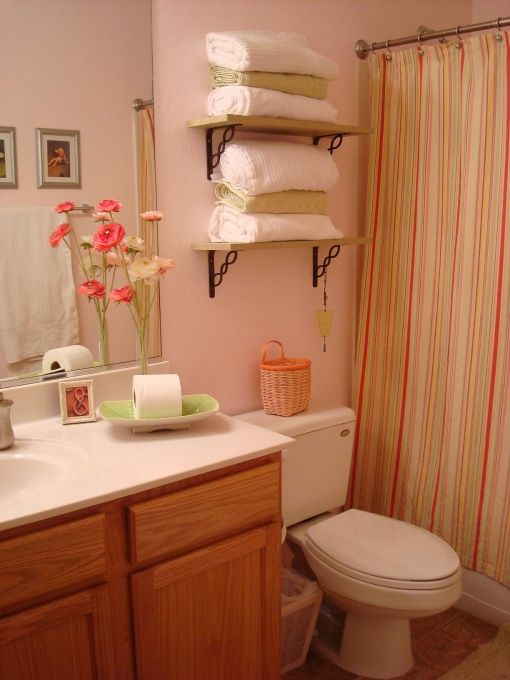 Pink And Green Bathroom Home Pinterest