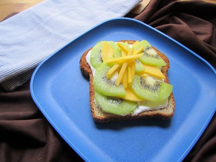 Yogurt, Kiwi, mango, whole wheat toast   kiwi   Pinterest