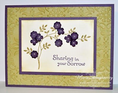 Sympathy card stampin up cards sympathy pinterest