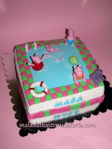 Peppa Pig On Swimming Pool My Cakes Pinterest
