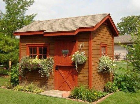 Dutch door garden shed dutch door for Sloped roof shed
