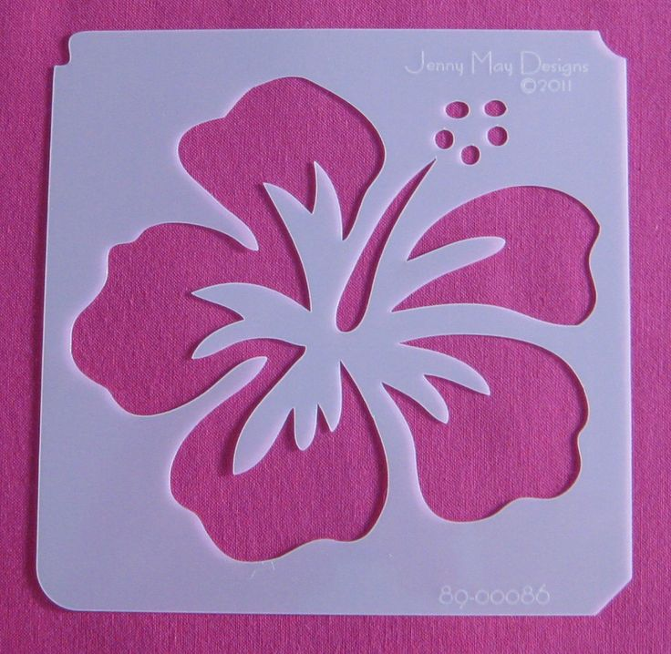 Large Flower Stencils : Tropical flower wall stencils imgkid the image