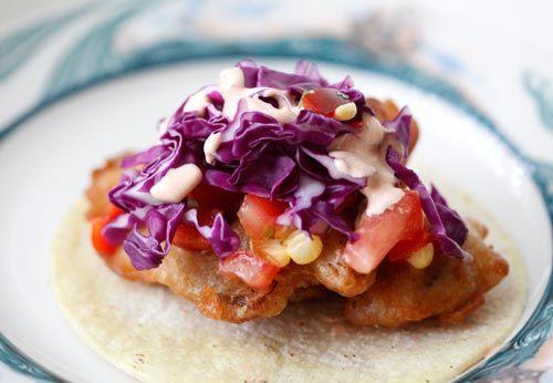 Vegan - Baja Style Oyster Mushroom Tacos (for Vegan friends!)