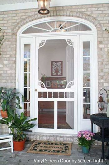 Pin by sarah fusco on houses pinterest for Front screen doors