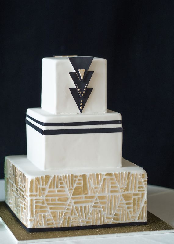 Art Deco Inspired Wedding Cake : art deco wedding cake
