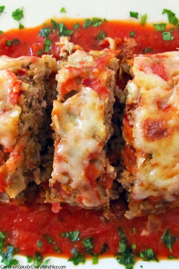 Italian Meatloaf - onion, red pepper, garlic, tomato, tomato sauce ...