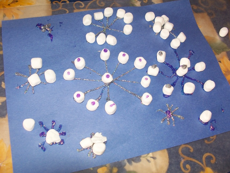 mini marshmallow snowflakes | Winter and Snow Themed Crafts | Pintere ...