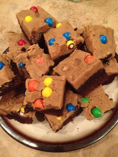 peanut butter cookie dough brownies | nom nom nom :) | Pinterest
