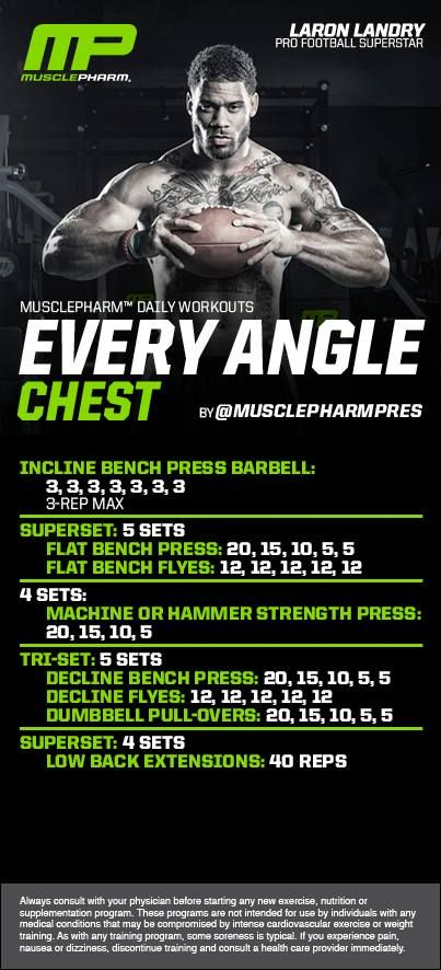 Our favorite chest workout | Muscle Pharm | Pinterest