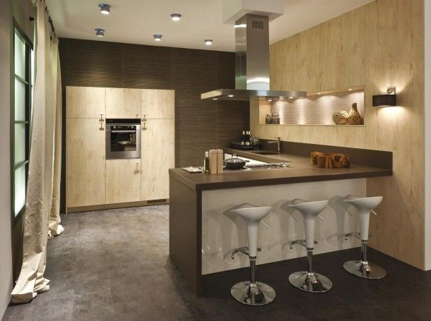 Landelijke Keuken Met Schiereiland : Keuken met bar Interieur Pinterest