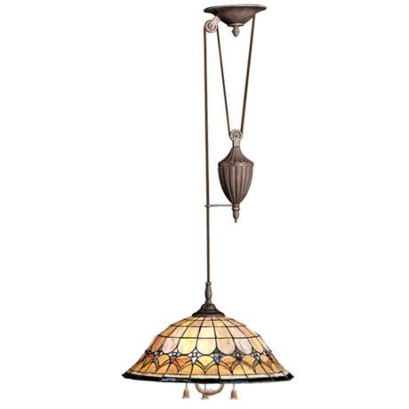 tiffany pull chain pendant chandelier lighting pinterest. Black Bedroom Furniture Sets. Home Design Ideas