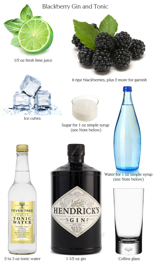 Blackberry Gin and Tonic | Cocktails | Pinterest