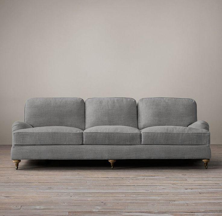 "96"" English Roll Arm Upholstered Sofa"