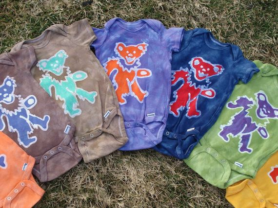 Grateful Dead Baby Batik esie Dancing Jerry Bear CUSTOM