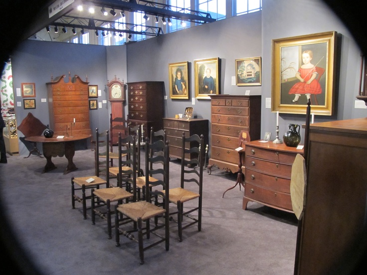 Old new england and pa folk art paintings and furniture for Art craft shows near me