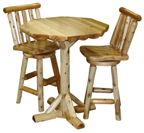 Log Pub Table And Chairs Bing Images