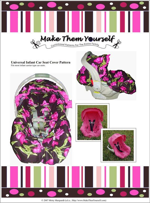 E Version Of The Universal Infant Car Seat Cover Pattern