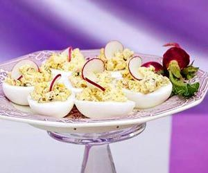 Italian Style Deviled Eggs..... with green olives, capers, anchovy ...