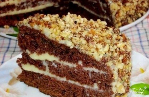 Бисквитный торт на кефире рецепт с пошагово в домашних