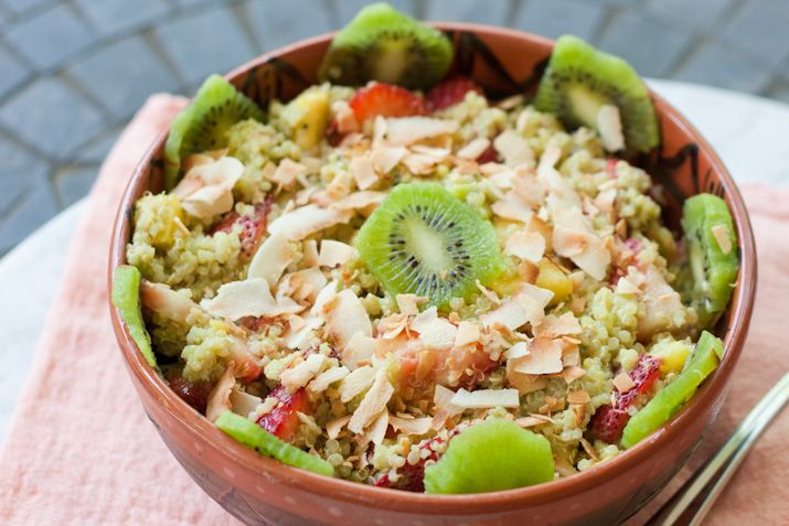 Quinoa Fruit Salad with Toasted Coconut Flakes | Recipe