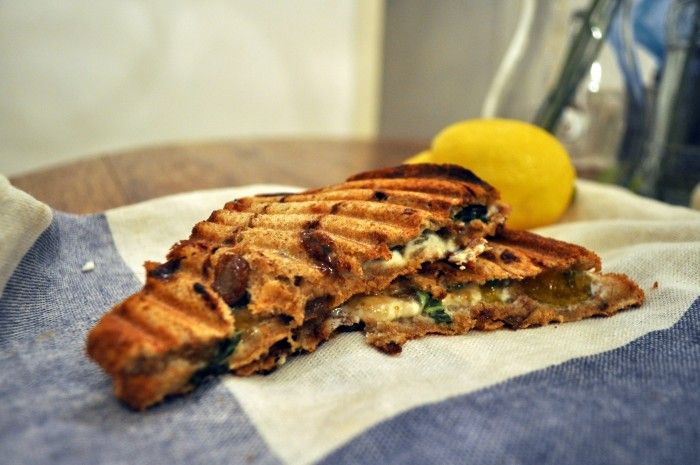 Grilled Fig & Goat Cheese sandwiches | eats | Pinterest