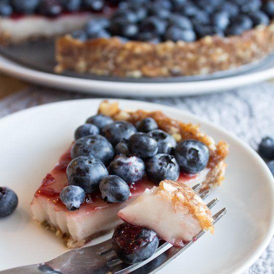 ... Blueberry Custard Pie is vegan, gluten free, and all around delicious